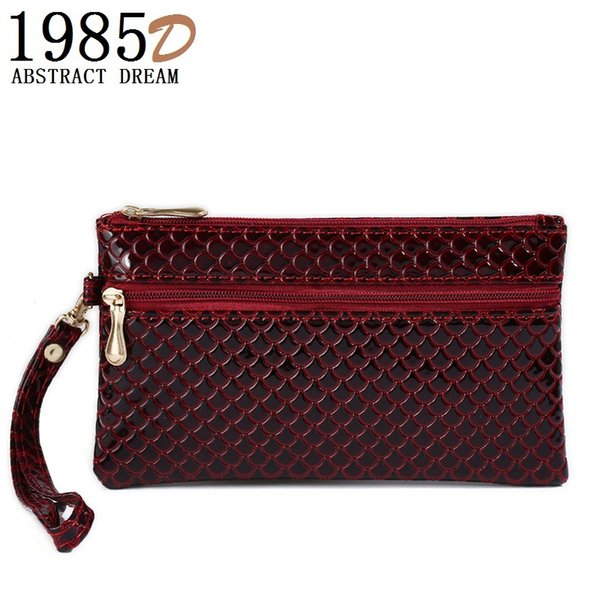 woman's wallet . Ladies 4 color wallet. Ladies phone envelope Hand bag . Women bags .High-quality tote .PU leather Black clutch