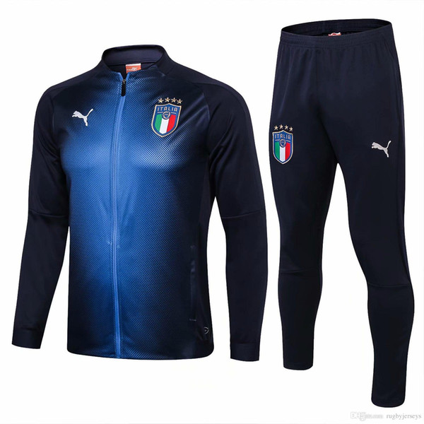 Best selling new 18 19 Italian tracksuit national team Soccer training suit 2019 full zipper jacket kit BONUCCI Italy jacket sets