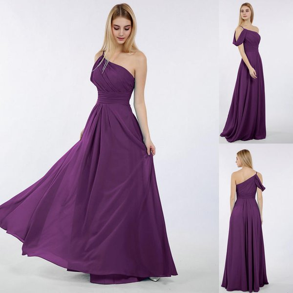 2019 Country Cheap Grey Bridesmaid Dresses for Wedding Long Chiffon A-Line Backless Formal Dresses Party Lace Modest Maid Of Honor Dress 487