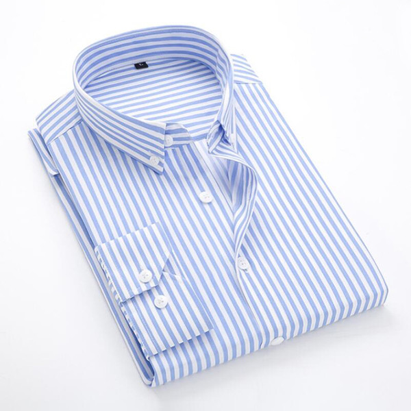 T -Bird Casual Shirts Men New Striped Long Sleeves Mens Dress Shirts Camisa Masculina Spring Summer Brand Casual Male Shirt Tops 5xl