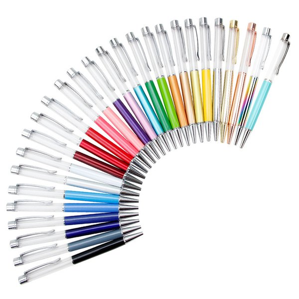 Japan Stationery Christmas Gifts Empty Floating Glitter DIY Pen Kids Dried Flower Small Shell Whelk Crystal Pen Ballpoint Pens Free DHL