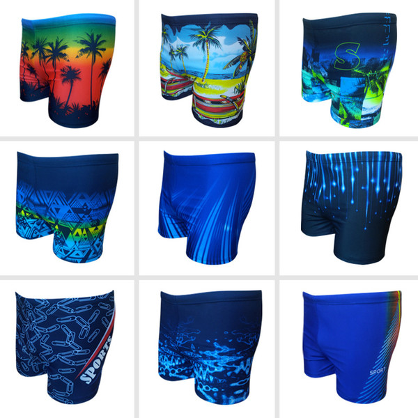 IMaySon Erkek Yeni Stil Moda Artı Boyutu Baskı Yüzme Iç Çamaşırı Yüksek elastik Gevşek Kısa Mayo Lace Up Spor Şort Yüzmek Gövde