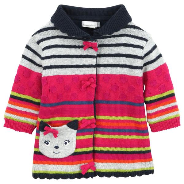 2-8 Jahre Marke Baby Mädchen Winter Pullover Bogen Kätzchen Langarm Mantel Kinder Flanell verdickt Pullover Kinderkleidung