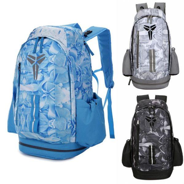 Brand New Kobe Backpack Team USA Mens Womens Designer Bags Students Black Grey Blue Outdoor Basketball Backpack Travelling Bag 3 Colour