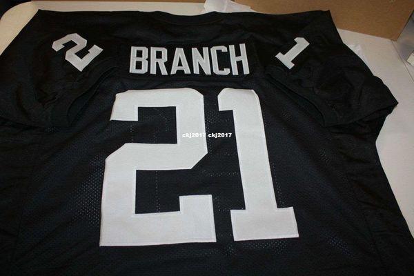 Cheap Retro CLIFF BRANCH #21 CUSTOM High-end MITCHELL & NESS Jersey Stitching men's Football Jerseys College NCAA