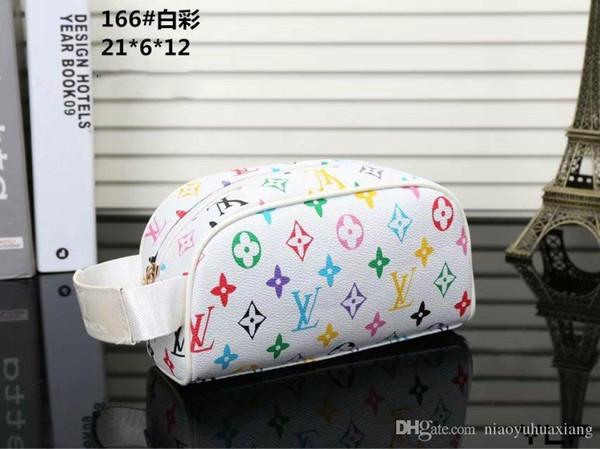 Yeni Toptan tasarımcıları kozmetik çantası kadın büyük seyahat organizatör depolama yıkama çanta deri makyaj çanta erkekler çift fermuarlı Kozmetik durumda