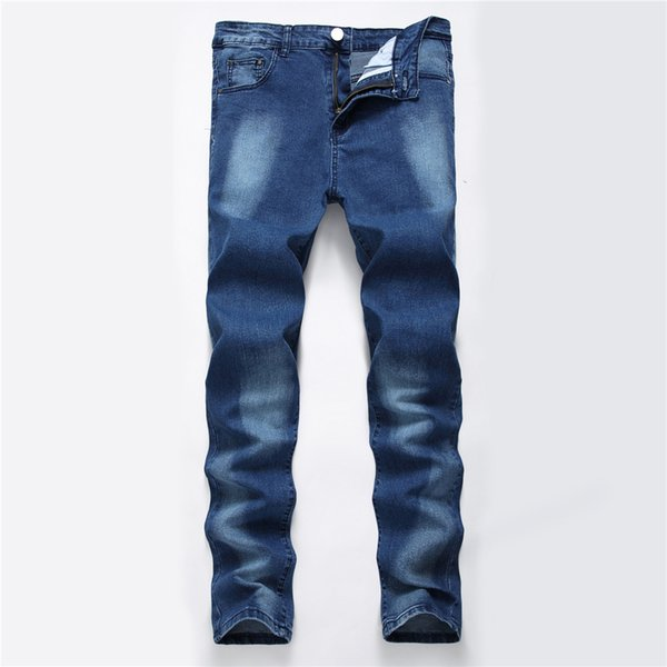 Casual Stretch Slim Jeans Men Street Classic Trousers Party Beach Jeans Male Straight Elasticity Pants Casual Denim Clothing