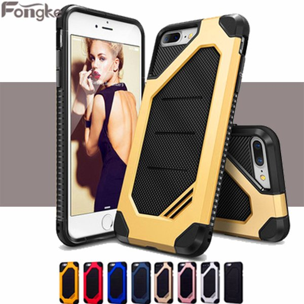 50MOQ Rubber Armor Hybrid Plastic Frame +TPU Case For iPhone X 8 7 6 6S Plus Phone Case Shockproof Double Layer Cover