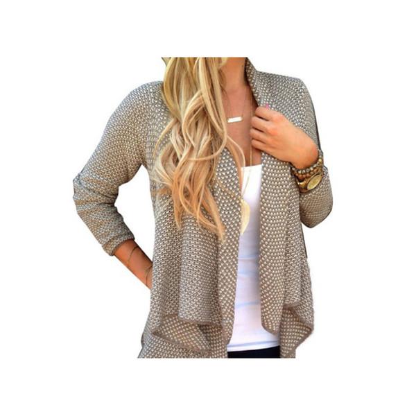 Cardigan lavorato a maglia Feminino Cardigan donna Donna Solido irregolare Sueter Oversize Long Cardigan Women Sweater