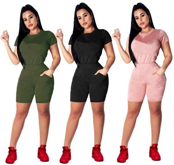 da5285329681 Бренд Дизайнер женский спортивный костюм футболка Шорты 2 шт. Наборы  футболка Брюки Спортивная одежда Футболки