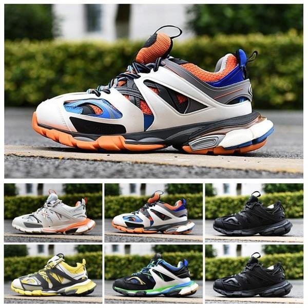 Top vente Designer Track Tess S 3.0 Hommes Chaussures De Randonnée Femmes Orange Bleu Blanc Clunky Sneaker Chaussures De Course Papa Chaussures