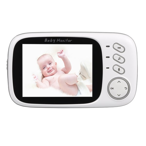 3.2 inch Wireless Video Color Baby Monitor Mini Cameras High Resolution Baby Nanny Security Camera Night Vision Temperature Monitoring