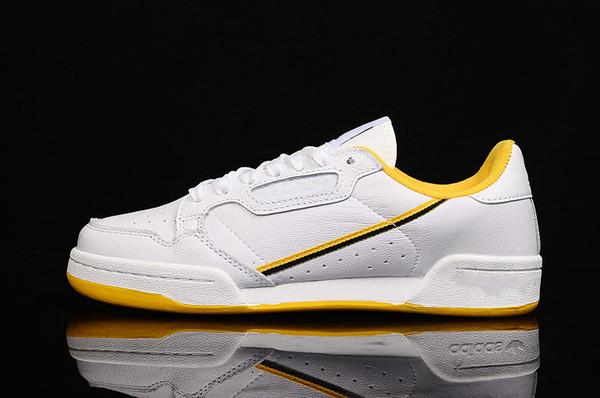 대륙의 80 흰색, 노란색