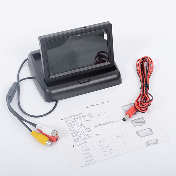 "Car 4.3"" Display for Rear View Camera Foldable Color TFT LCD 4.3 Inch HD Screen For Car Reverse original"