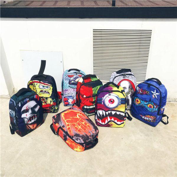 Cyclopia mochila monstro Sprayground projeto daypack Shark mouth schoolbag mochila Mochila chão Spray saco de escola do esporte Ao ar livre pacote de dia