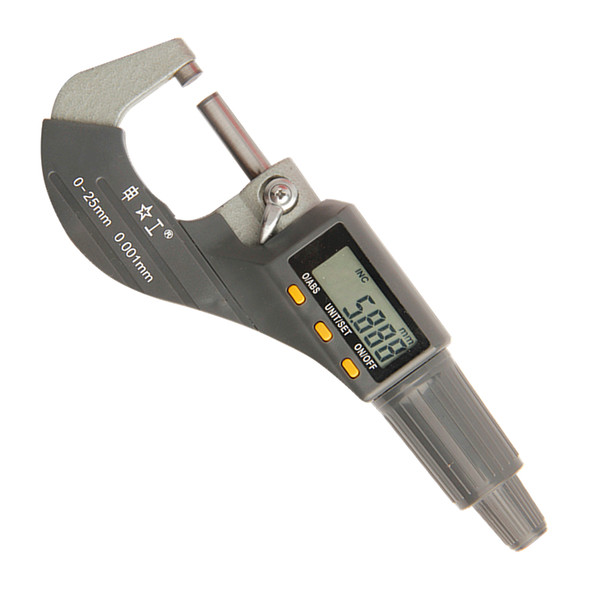 top popular Freeshipping 0-25mm Digital Micrometer 0.001mm Metric Inch Outside Micrometer Measuring Instrument Electronic Micrometer Tools 2020