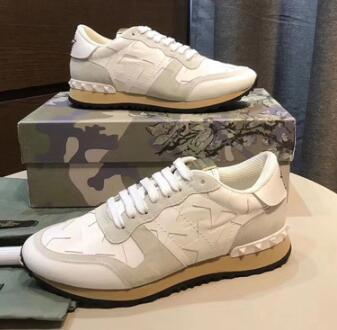 Amoureux Chaussures sport Sneakers Starstudded Leather Rock Runner Chaussures Baskets Camo et Rockrunner Cloutés Casual Flats Walking lkl96