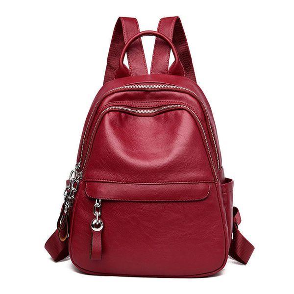 Gute qualität Praktische multi-tasche Frauen Rucksäcke Hohe Qualität Pu-leder Rucksack Weibliche Schultaschen Für Mädchen Vintage Lässig tasche