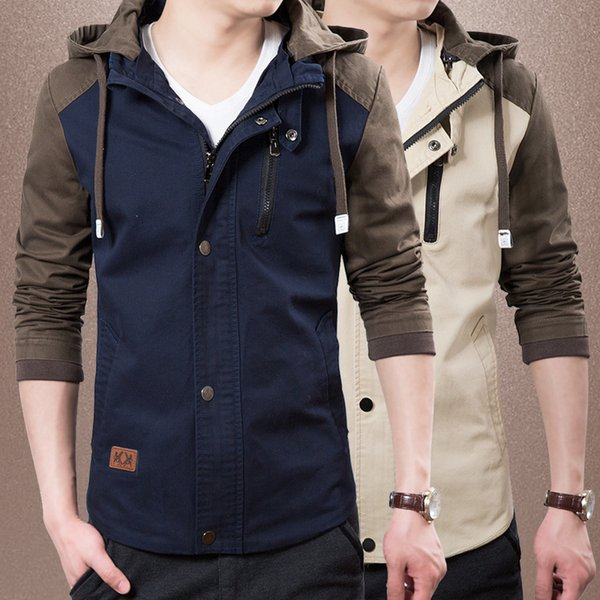 Sexy2019 Man Loose Coat Spring And Stand Lead Pure Cotton Jacket Korean Self-cultivation Cool Time Men's Wear Jacke Trend 8002