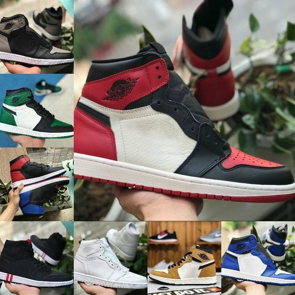 2019 High 1 OG TOP 3 Banned Bred Royal Blue Mid Hare Women Basketball Shoes Men 1s Chicago Shattered Backboard Trainers Red White Sneakers