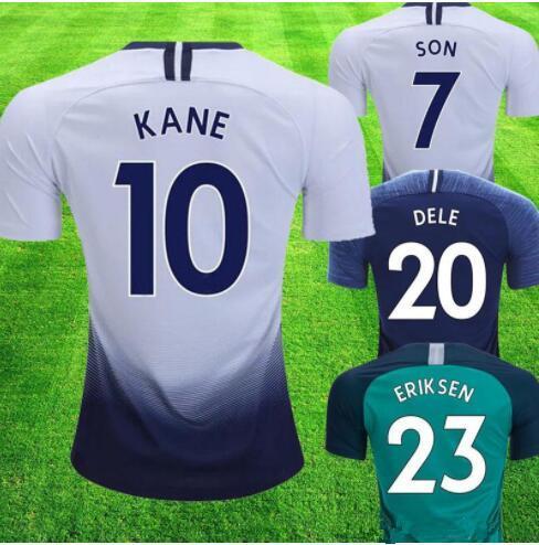 eb1d3448204 2018 2019 spurs KANE Adult Soccer Jersey 18 19 Tottenhames LAMELA ERIKSEN  DELE SON Football shirt