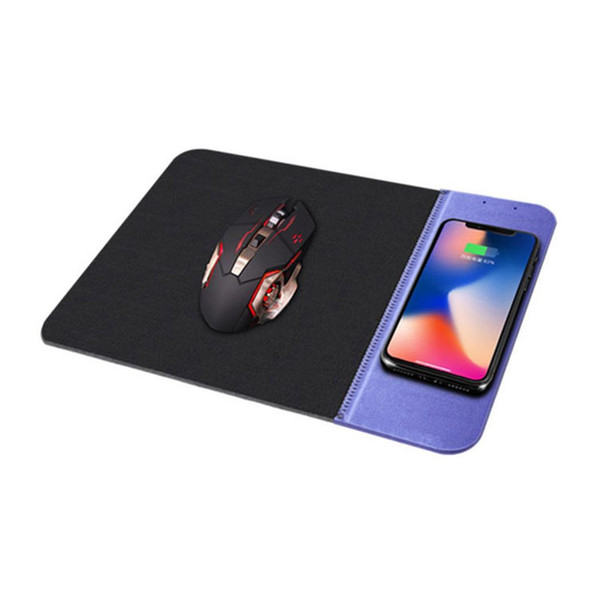 PU Rubber Mouse pad Qi Wireless Charger cell Phone charging base for iPhone X XS max 8 Plus Samsung s9 s10 plus
