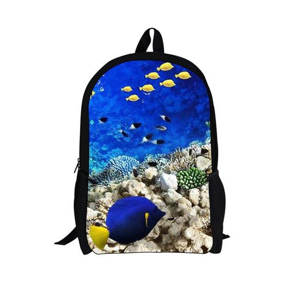 Underwater world animal Printing Children Girls School Bags For Teenage Casual Daily laptop Backpacks M009