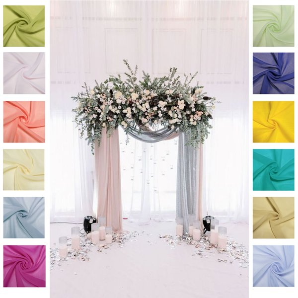 55*235 inches 50 Different Colors Home Table Cloths Chiffon Table Runner Free Shipping Cheap Long Chair Covers Fabric For Home Garden