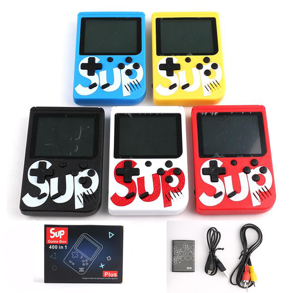 400 in 1 SUP Mini Handheld Game Console Sup Plus Portable Nostalgic Game Player 8 Bit FC Games Color LCD Display Game Player