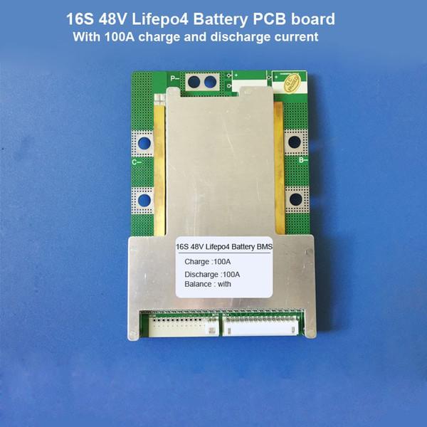 Freeshipping 16S 48V Lifepo4 batería BMS y 58.4V o 57.6V Lifepo4 batería eléctrica scooter PCB por menos de 2500Watt Motor