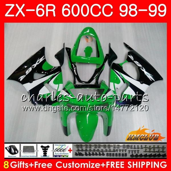 Karosserie Für KAWASAKI NINJA ZX-6R 6R ZX-636 ZX600 CC 98-99 Verkleidung 39HC.245 600CC ZX636 ZX6R 98 99 ZX 636 ZX 6R 1998 1999 Verkleidungsrohling