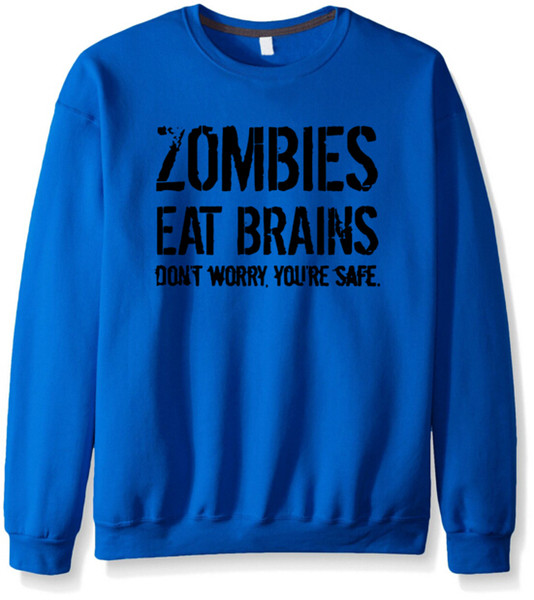 Fashion-Zombies Eat Brains Letters Print Hoodies Herbst Winter Neu Herren Damen Pullover Sportbekleidung Fleece Hoodies