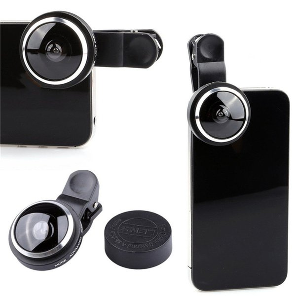 4a705c24882631 1pcs Super 235° Clip-On Fish Eye Camera Accessories Wide Angle Lens Kits  High Quality Universal Selfie Lens For Samsung iPhone Smartphone