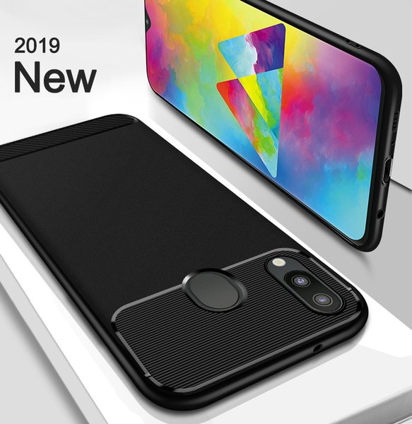 For Samsung Galaxy M30 M20 M10 S10 Plus S10e A9 A70 J2 Prime Soft Silicon TPU Cover Carbon Fiber Soft Gentleman Phone case