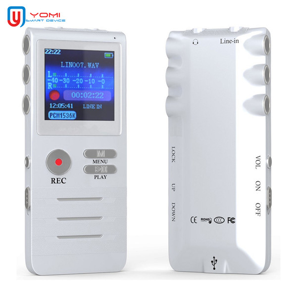 Mini Grabadora de Voz 8G Grabadora Profesional de Reducción de Voz Pluma Compatibilidad con MP3 Reproducción en tiempo real