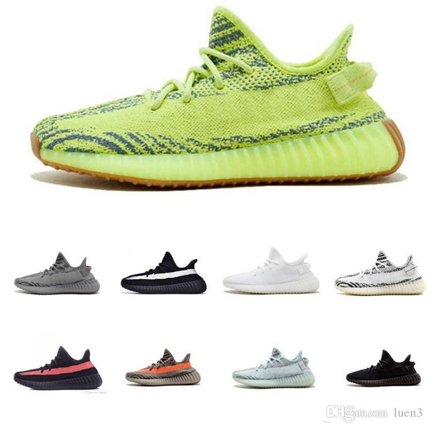 top popular lop 2019 New V2 Static Clay Sesame True Form Hyperspace Men Women Running Shoes Kanye West Beluga 2.0 Orange Bred sports Sneakers size 7-13 2020
