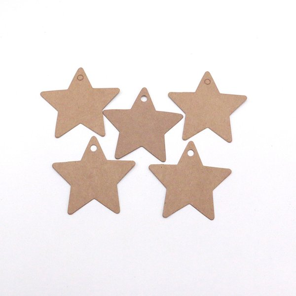 500pcs/lot 6.3x6.3cm Handmade DIY White And Brown Blank Necklace Earring Tags Price Label Card Jewelry Display