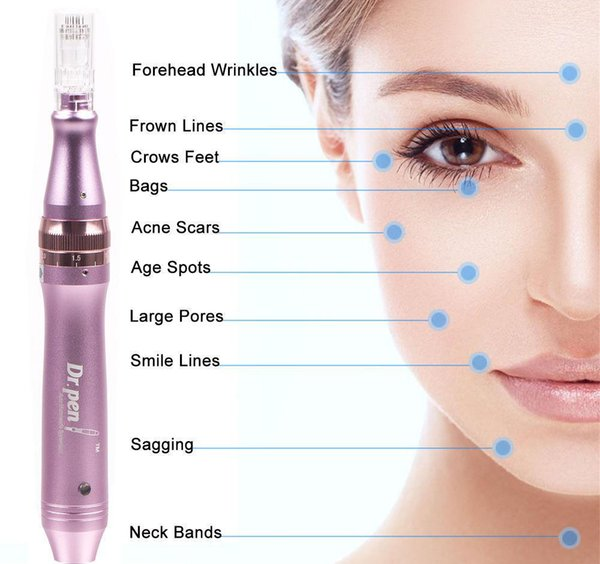 Dr. Pen Derma Pen M7-C Auto Microneedle System Anti-aging Adjustable Needle Lengths 0.25mm-2.5mm Electric Stamp Auto Micro Roller
