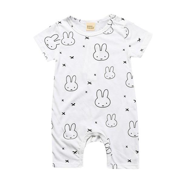 2019 hot selling children's clothing new summer models children's short-sleeved boxer jumpsuit baby short dress romper