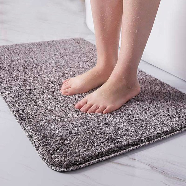 Indoor Bathroom Rug Non-slip Set Absorbent Dirt Catcher Rectangle Floor Mats Feet Soft Microfiber Home Carpet Anti-skid Bath Mat
