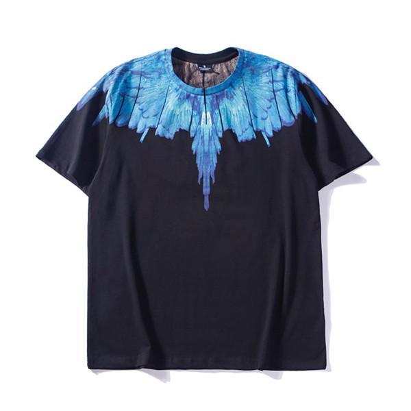 19SS Luxurious Brand MBH Wings series pattern fashion Men Women Spring Summer Sleeves Outdoor Streetwear T-shirt