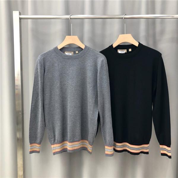 19FW Luxurious Brand Design BBR Hoodie Long sleeve Crewneck Sweater Sweatshirt Fashion Stripe splicing Pullover Hoodie Outdoor Sweatshirt