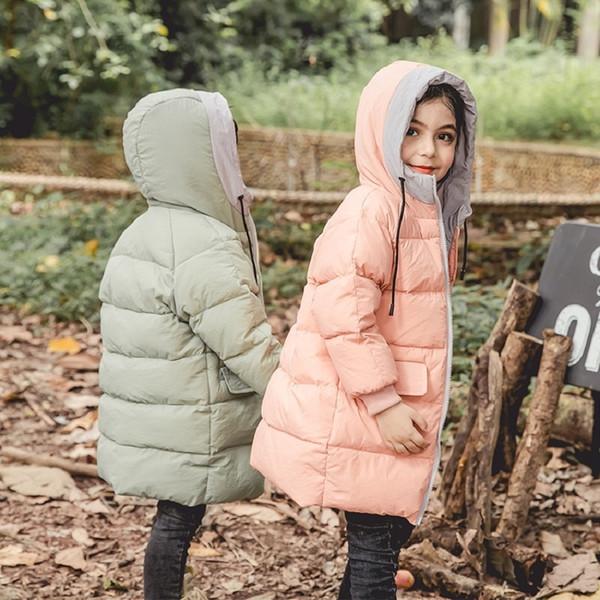 Benemaker ceket Aşağı Kız Erkek Palto Çocuk Giyim Sıcak Uzun snowsuit tulumları Bebek Giyim Çocuk Dış Giyim JH096 T190921 İçin