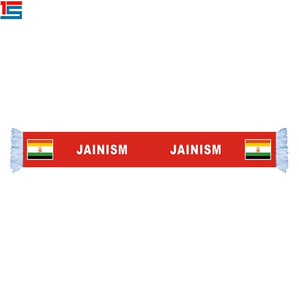 bufanda de la bandera vnational de la COSTA de JAINISMO de la poliester barata para la bufanda de los aficionados al fútbol del equipo de día nacional