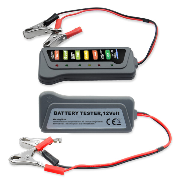 12V Digital with 6 LED Lights Display Battery Testers Alternator Car Vehicle Diagnostic Tool For Car Motorcycle circuit tester