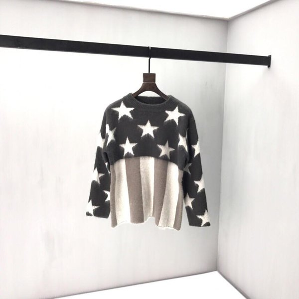 19ss France Paris luxury autumn and winter latest high quality mohair men's designer fashion long-sleeved sweater tag top hot sale