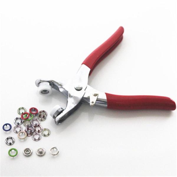 Привязать Щипцы крепежей Пресс стержня Кнопка Крепежный инструмент для шитья Craft Kit сеттер