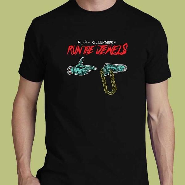 Führen Sie die Juwelen S M L XL 2XL 3XL T-Shirt Abschlag El-P Killer Mike Hip-Hop-Supergruppe