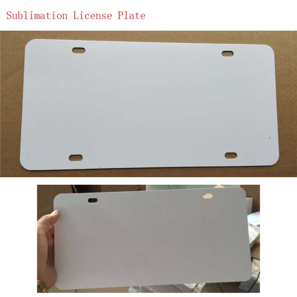 top popular big Promotion sublimation blank metal car License plate materials hot heart transfer printing diy custom consumables 29.5*14.5CM 2021