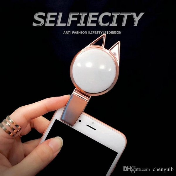 LED Selfie Light Flash Spotlight three kinds of lights color Brightness LED Clips for iPhone Samsung Galaxy Sony Motorola Huawei and other